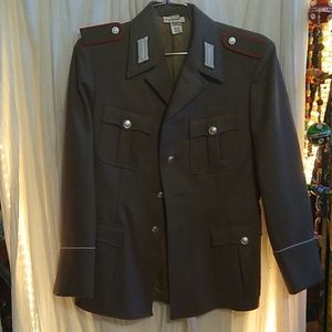 Gray Wool Military Jacket made in Germany Sz. 48
